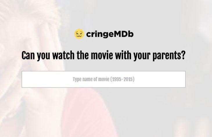 CringeMDb, para consultar si una película es apta para verla entre toda la familia