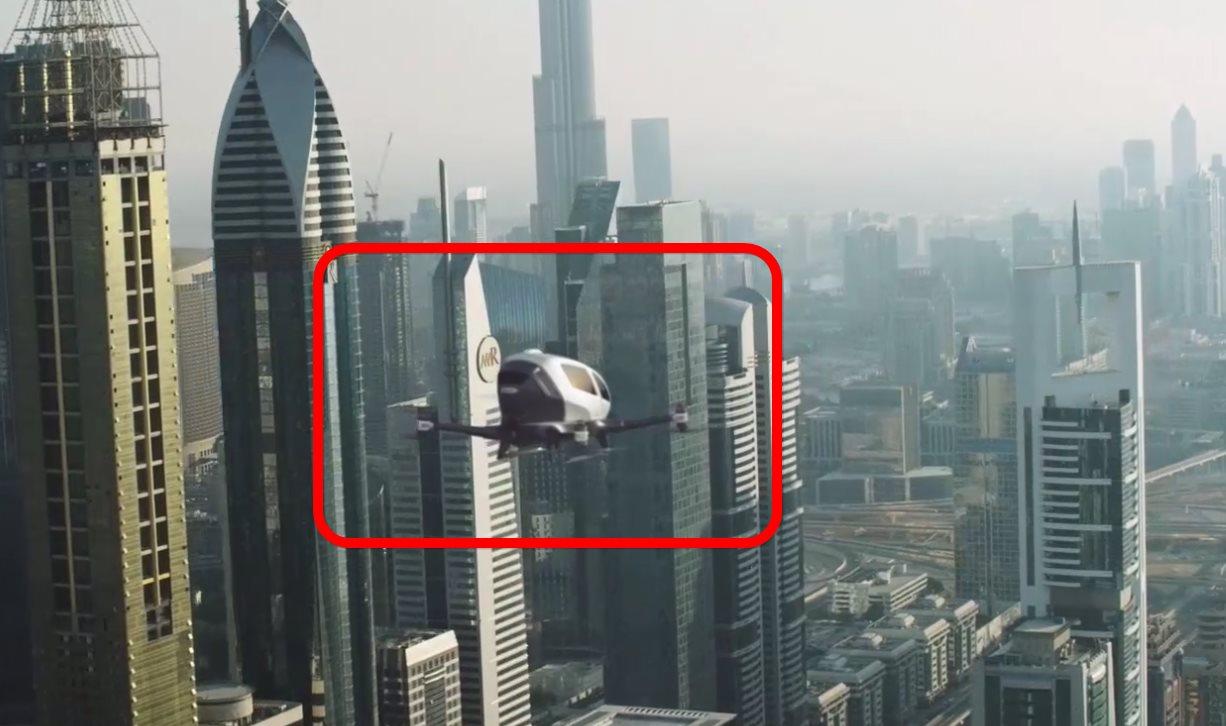 Ehang 184, un dron gigante en el que podemos meternos dentro y volar