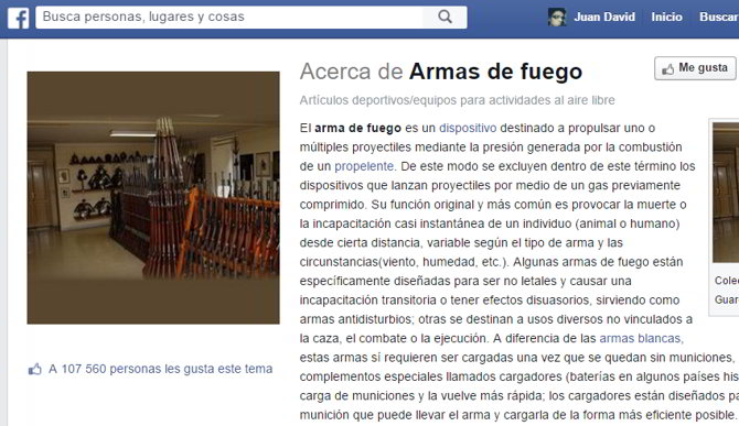 facebook prohibicion