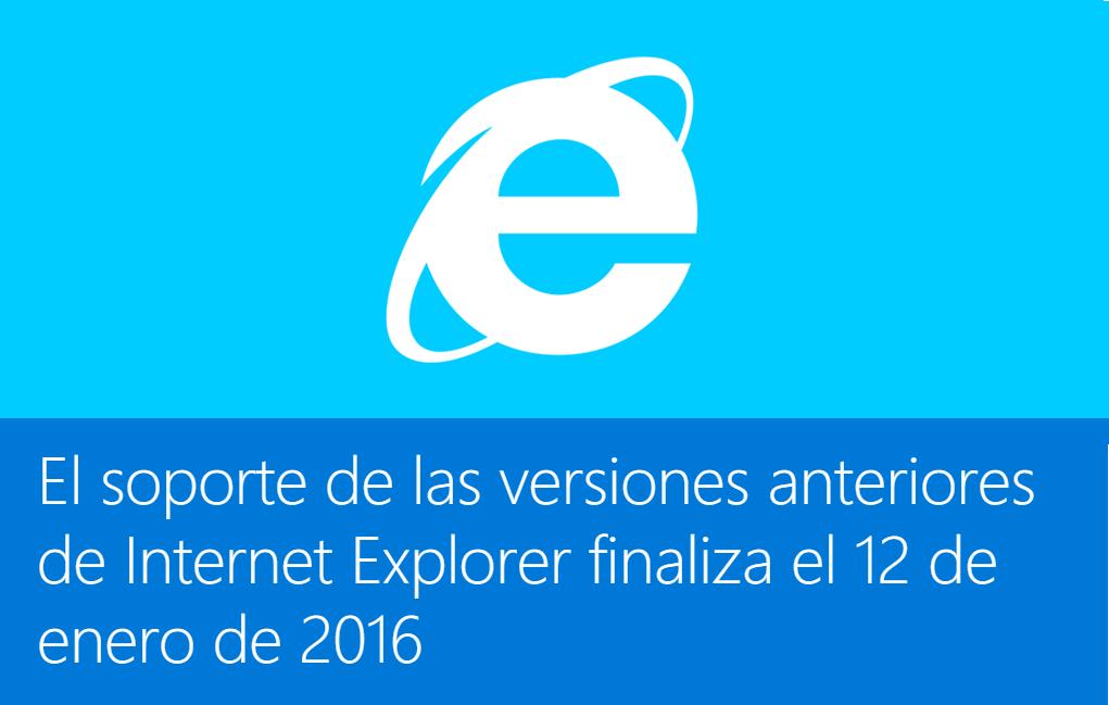 fin soporte internet explorer 8 9 10