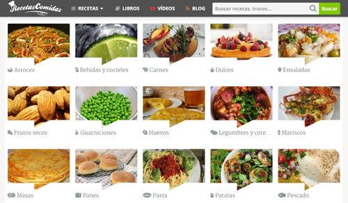 recetas comidas categorias