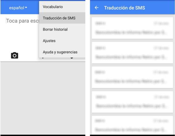 traducir SMS