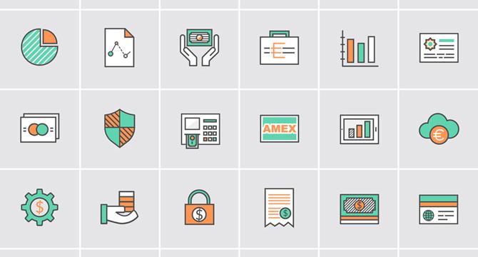 36 Iconos Vectores De  Bancos Y Dinero