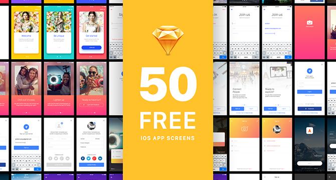 50 Plantillas De Pantallas de Aplicaciones iOS