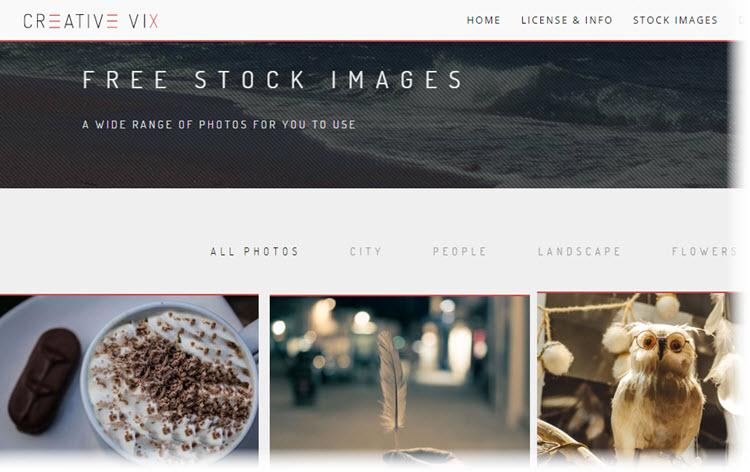 Creative Vix, cientos de imágenes de dominio público para nuestros proyectos