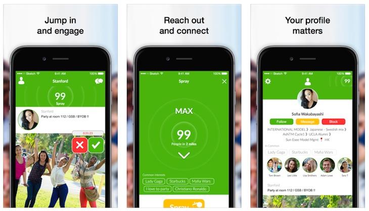 Spray, app para conectar y hablar con las personas que se encuentran cerca