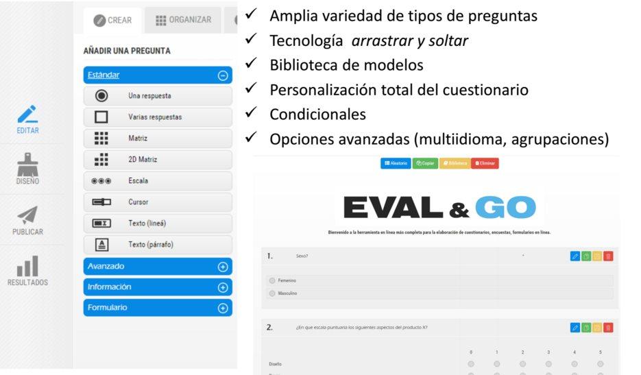 evalandgo, una completa solución para crear encuestas en español, con opción gratuita