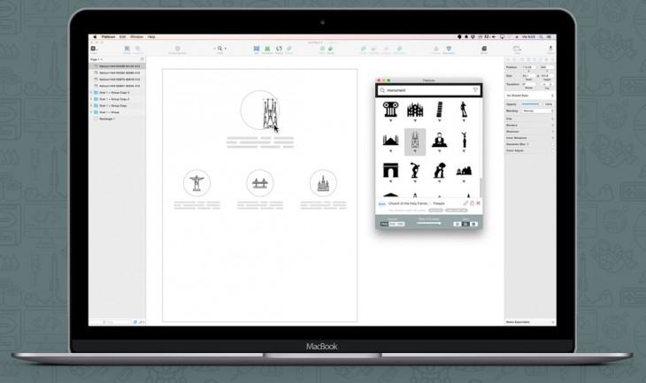 Aplicación de Flaticon para Mac OS X