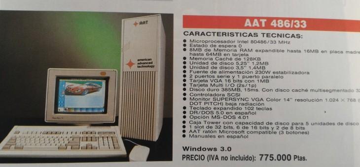 Un revolucionario 486 en un anuncio de 1991