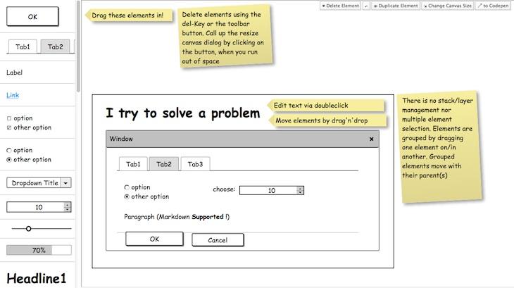 quickMockup, una sencilla herramienta online para crear bocetos de interfaces