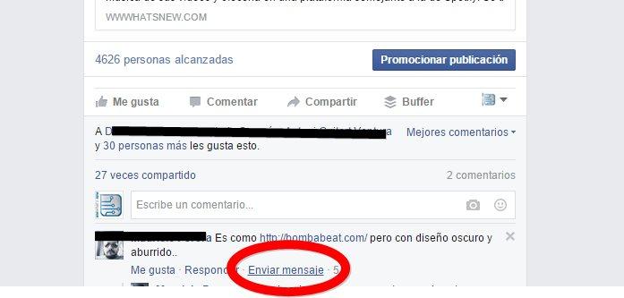 Nueva opción para responder mensajes en Facebook