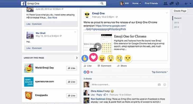 EmojiOneFacebookReactions