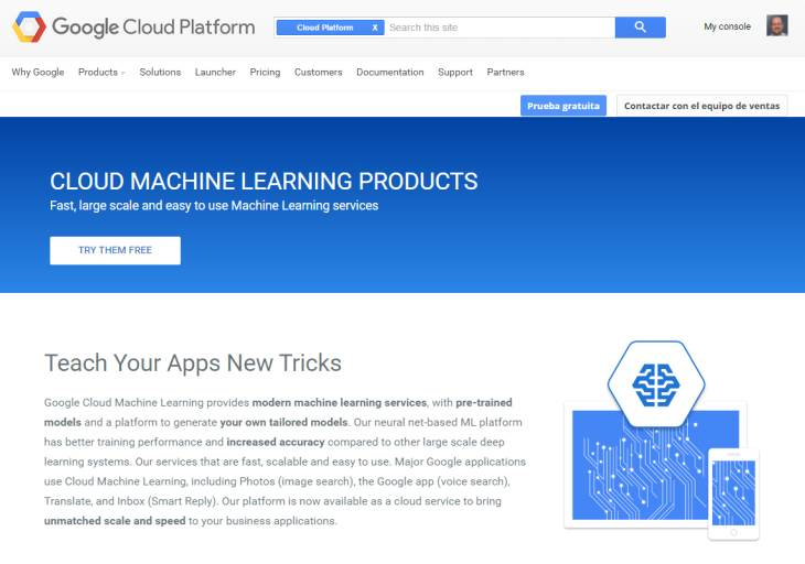 Google lanza su plataforma de máquinas de aprendizaje en la nube para desarrolladores