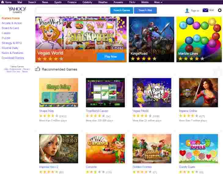 Imagen: Yahoo Games, uno de los servicios que echará el cierre