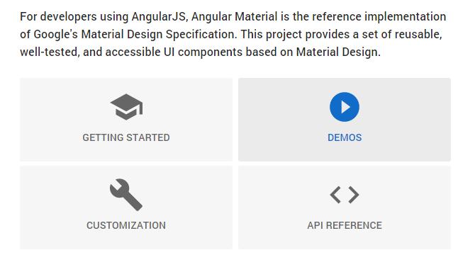Angular Material: Implementacion De Referencia De Especificaciones