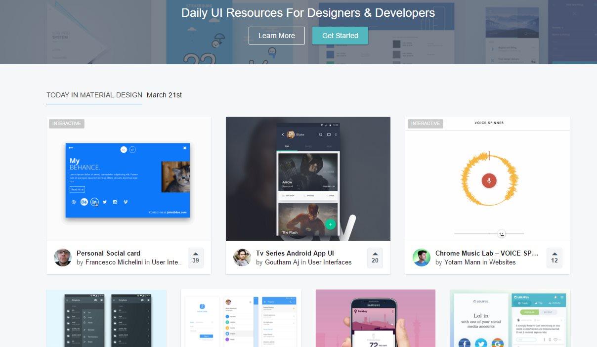uplabs, miles de recursos para programadores y diseñadores actualizados a diario