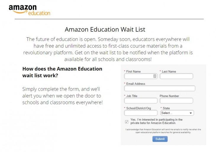 Lista de espera de Amazon Education