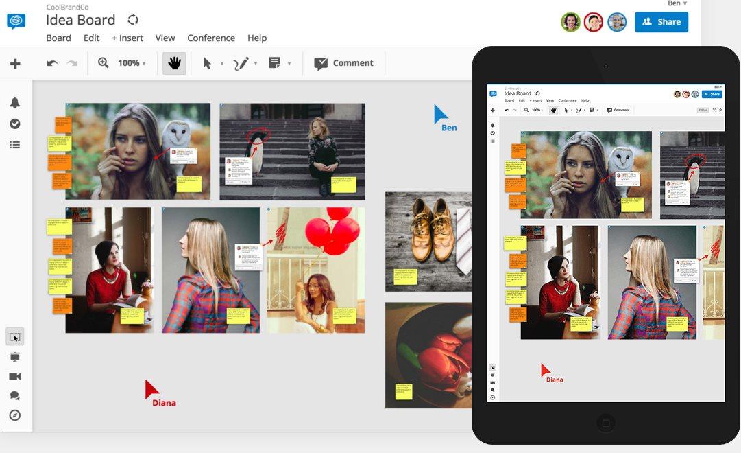 Conceptboard, la herramienta de trabajo en equipo, se integra con Dropbox