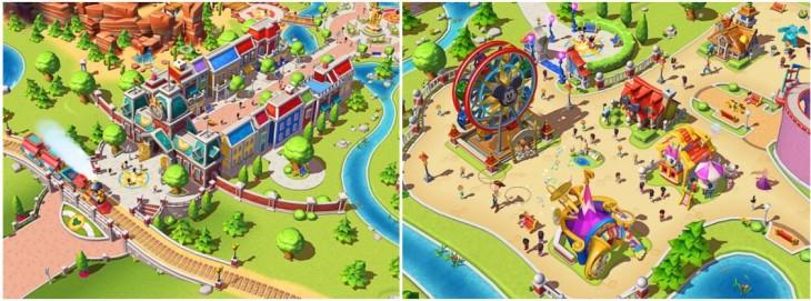 Aspecto de un parque creado con el juego