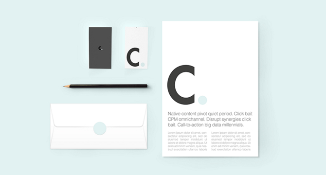 Corner: Mockup Para Identidad Corporativa
