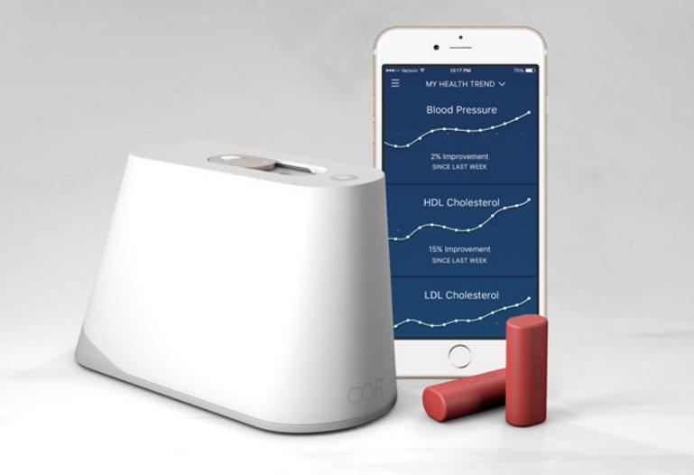 Cor, para realizar exámenes de sangre en casa y ver el resultado en el móvil