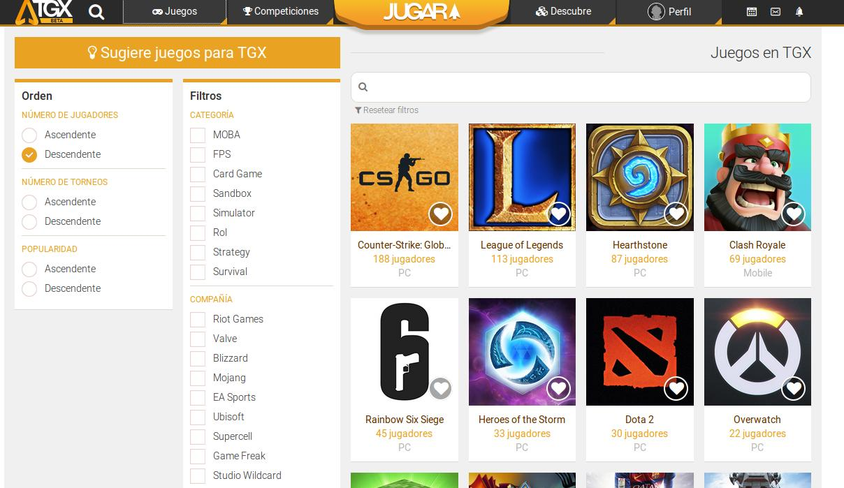 TGX, una nueva plataforma web para participar en torneos de juegos y compartir hazañas