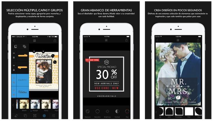 Cameraxis, una completa aplicación de diseño gráfico para dispositivos iOS