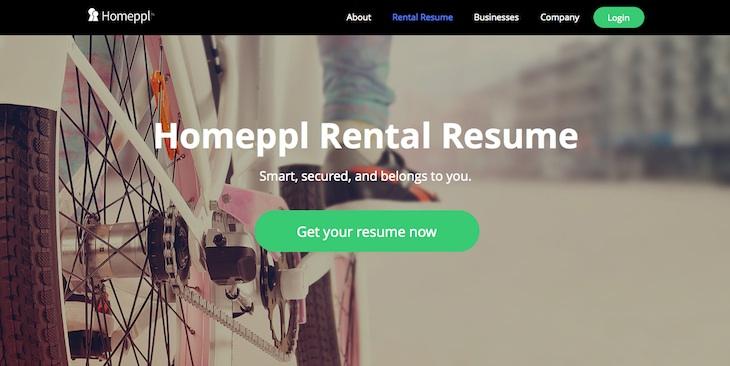 Homeppl, web para crear un currículum orientado a la búsqueda de piso de alquiler