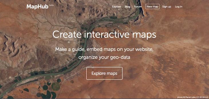MapHub, una plataforma para crear mapas interactivos de forma sencilla