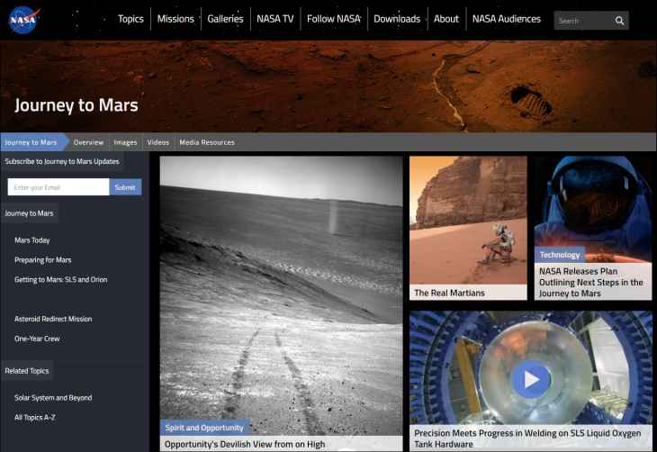 Imagen: web de la NASA