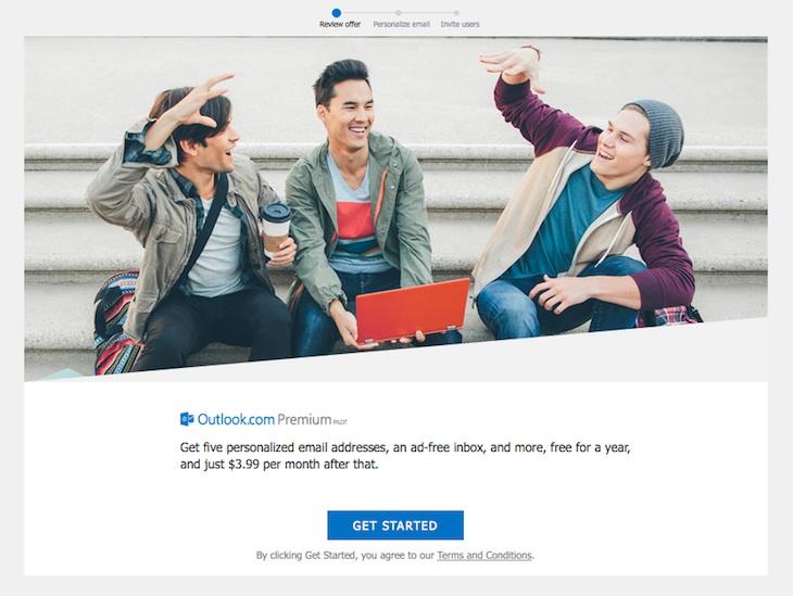 Las cuentas de correo electrónico premium de Outlook costarán 3,99$ al mes