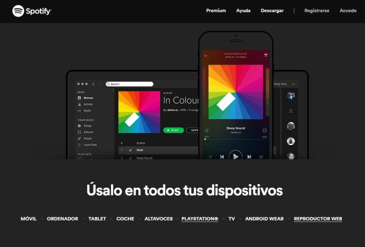 Imagen: Web de Spotify