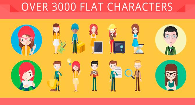 Asombrosa Coleccion De Sets De Personajes Vector