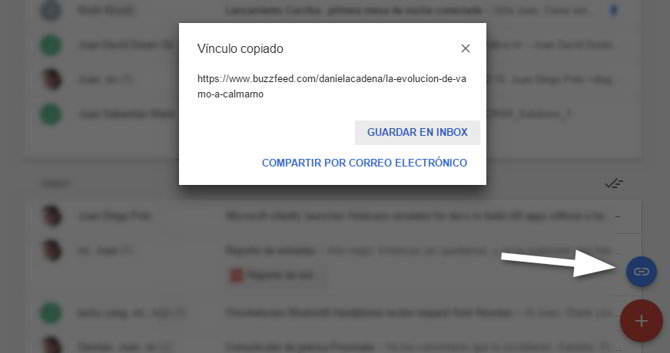 guardar enlaces inbox