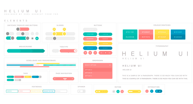 Helium: Kit Para Diseño De Interfaz De Usuario