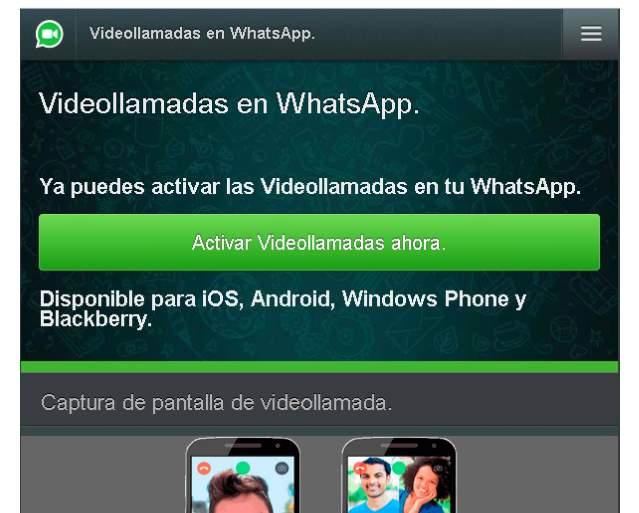 Aviso falso de videollamadas en Whatsapp