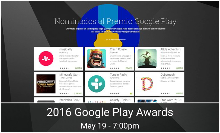 premios google play 2016