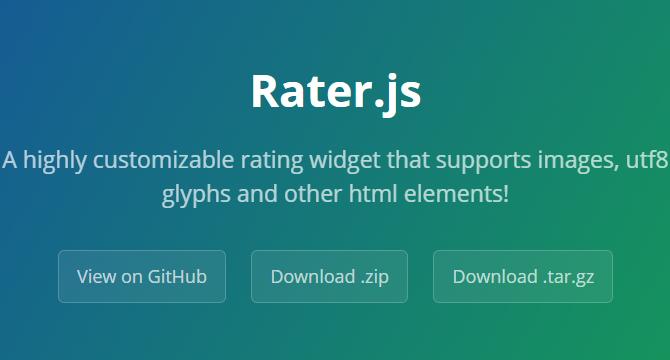 Rater.js: JavaScript Widget De Calificación