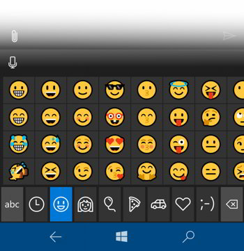 windows 10 emoji mobile
