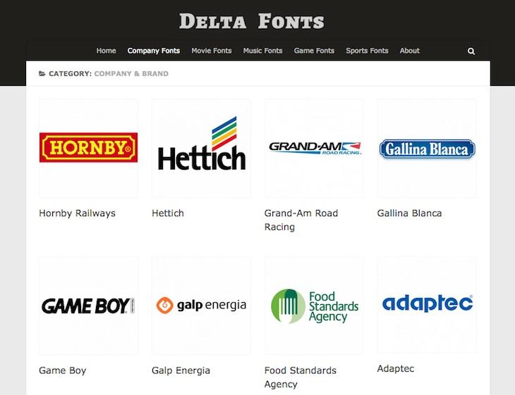 Delta Fonts, un archivo con las fuentes empleadas en miles de logos famosos