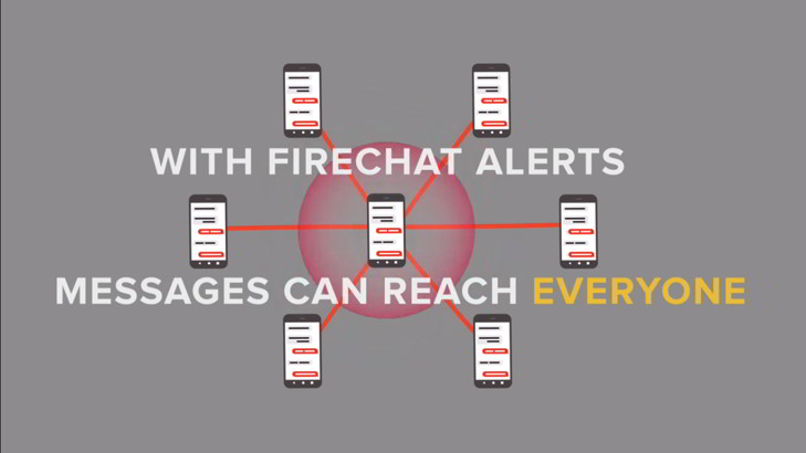 firechat alerts desastres