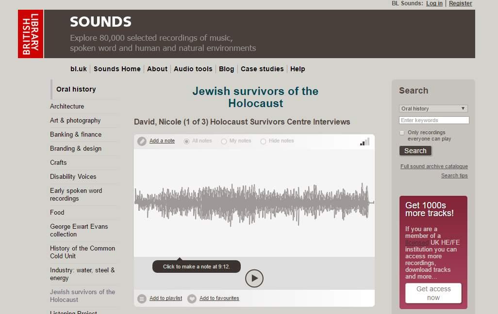 80.000 archivos de sonido en el portal de la British Library