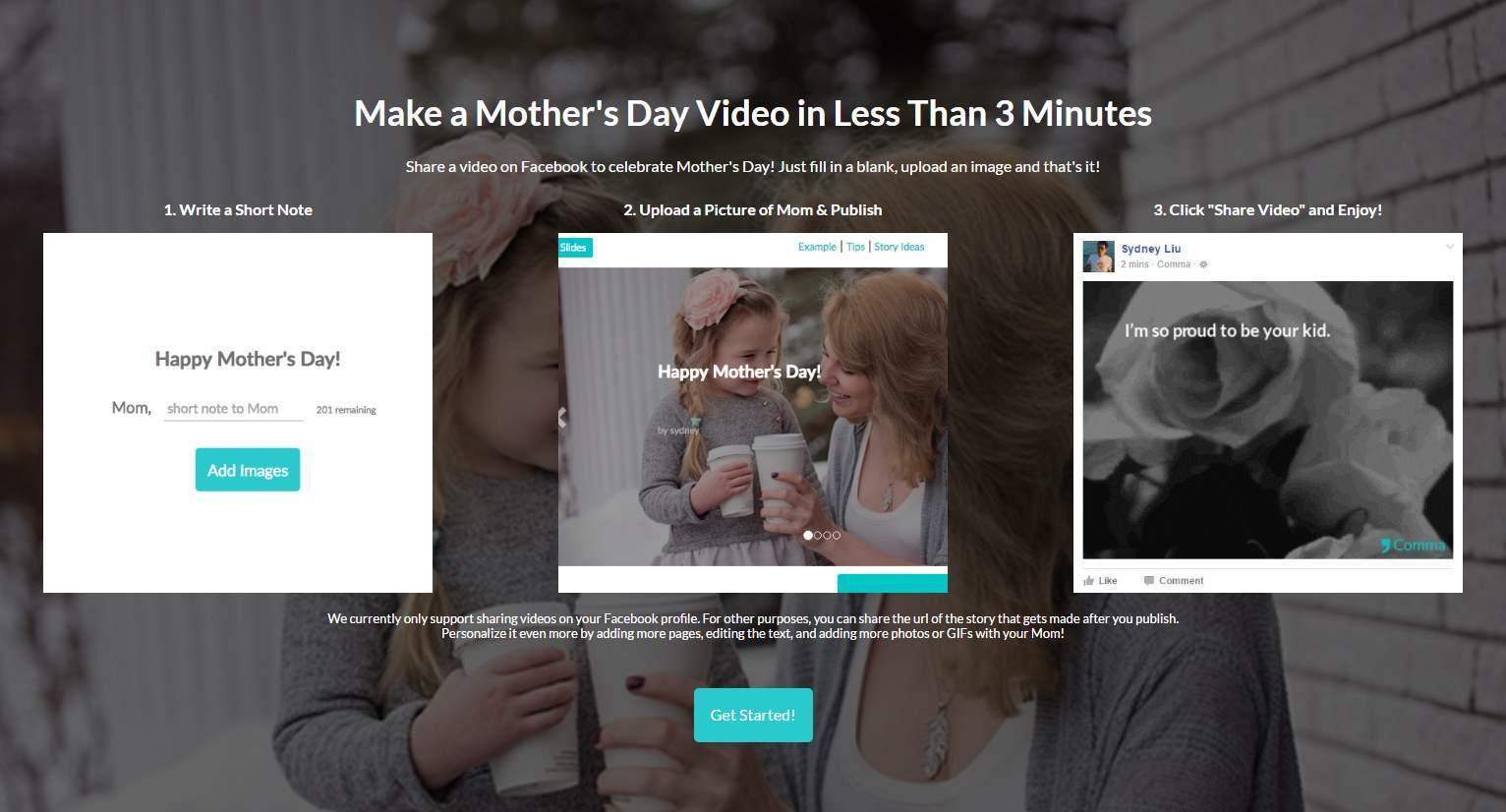 Comma, para presentar nuestra idea en slides o vídeos, en pocos minutos