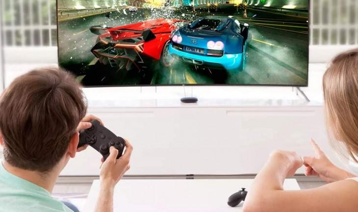 Con mando para juegos