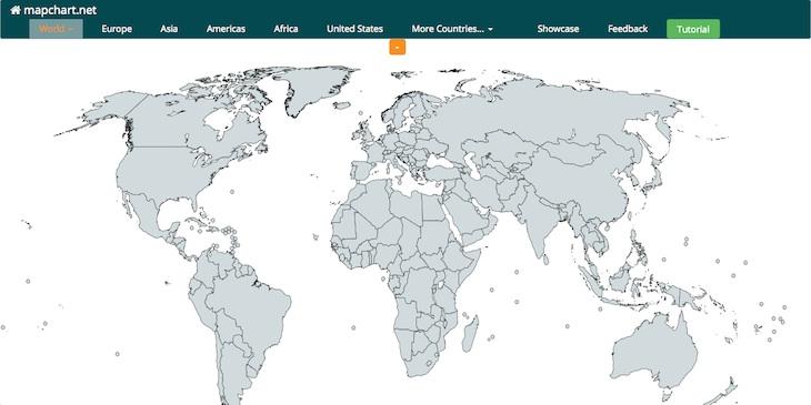 mapchart, para crear mapas personalizados con colores y descripciones