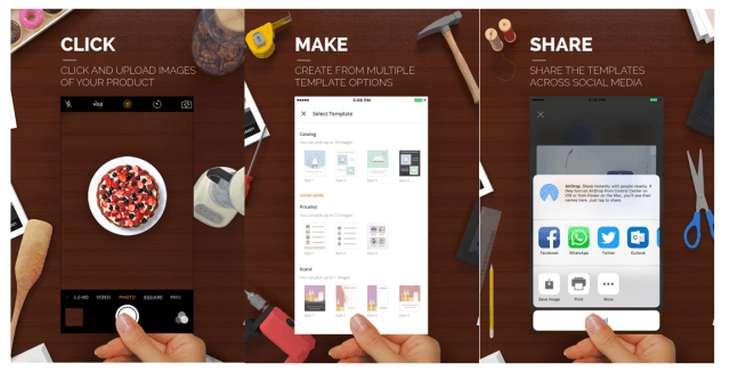 Sprightly, para que pequeños comercios puedan crear sus diseños, ahora también en iOS