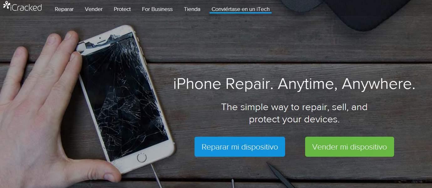 icracked, para reparar teléfonos móviles usando la filosofía Uber