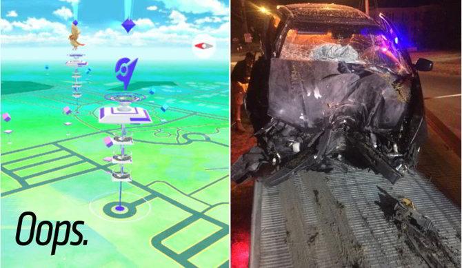 1 accidente pokemon go