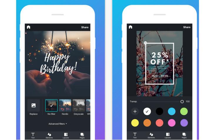 Ya podemos crear gráficos y diseños desde el iPhone con Canva