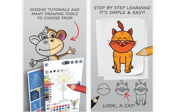 Drawissimo Kids, una app que enseña a los niños a dibujar y pintar